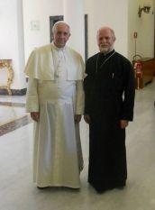 Sua Santità Papa Francesco con l'Ecc.mo Archimandrita Symeon KATSINAS