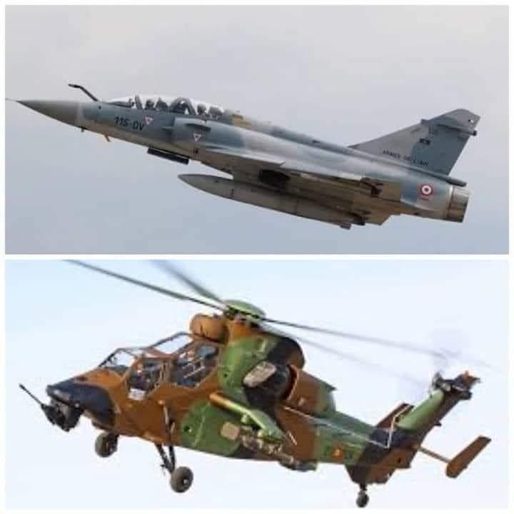 la reprise des survols des avions de l'armée française