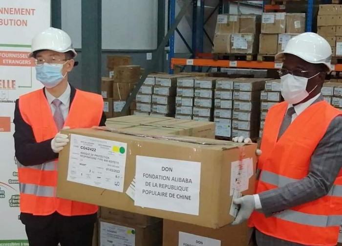 [Lutte contre la Covid-19]La Chine fait don d'un lot de matériel médical à la Côte d'Ivoire