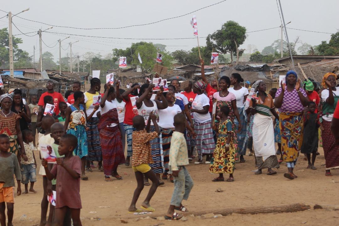 [Tiémélékro-Anoumaba] Le candidat indépendant  Niamian N'Guessan Raoul Thibaut à la rencontre de la population de Katchenou, le 02 Mars 2021 (Images)