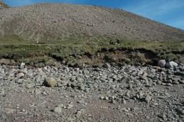 Shoreline erosion at Etah in 2006.