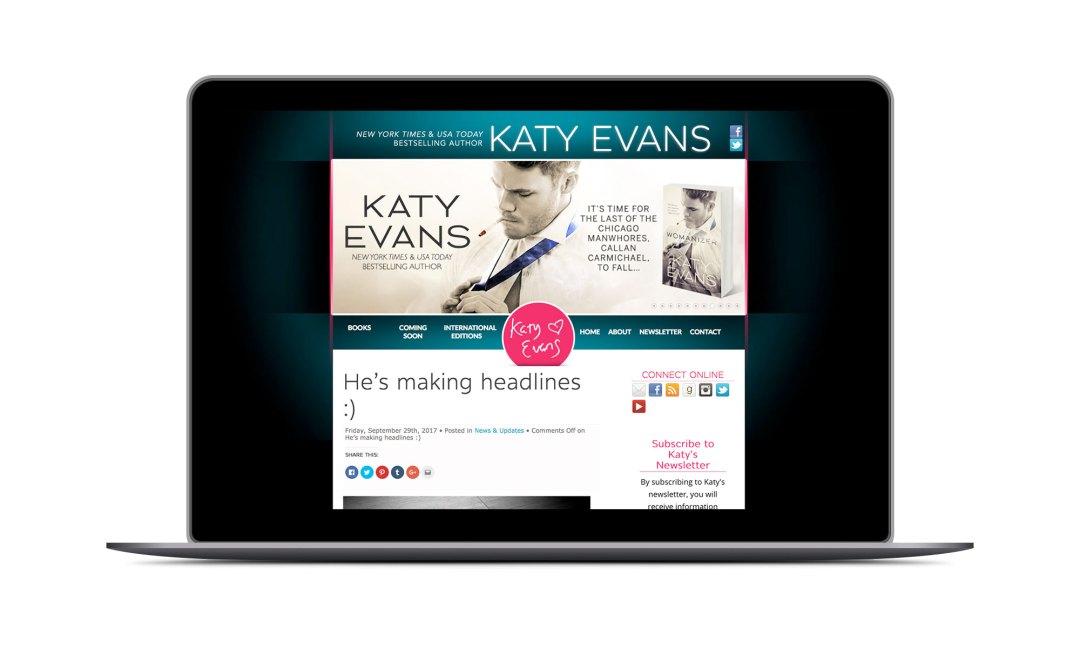 Screenshot: Katy Evans Website