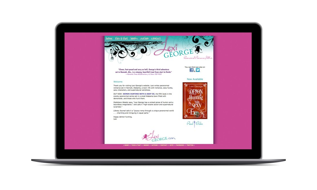 Screenshot: Lexi George Website