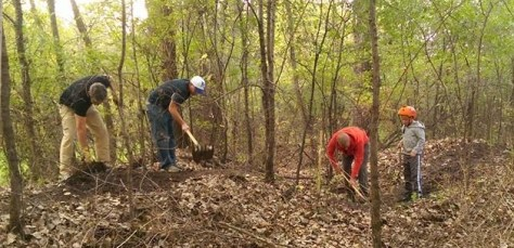 Sechler Park trail work