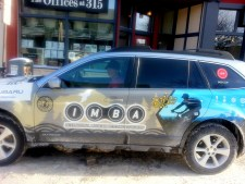 Michelle Barker and her IMBA car