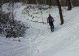 Myrna Mibus, fat biking in Sechler Park 2