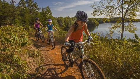 Kids MTB at Cuyuna Lakes MTB Trails. Photo by Aaron W Hautala at Red House Media