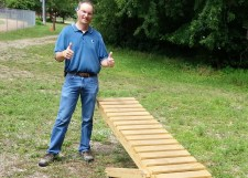 Jim Wellbrock with mtb teeter totter