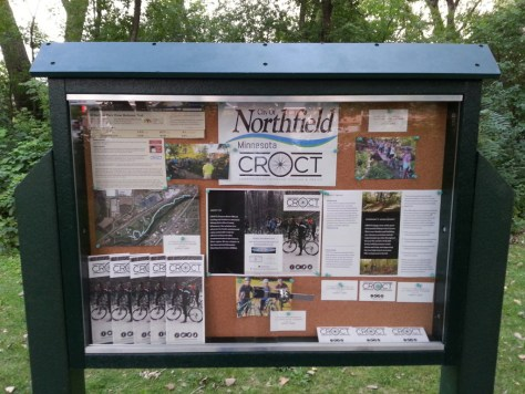 Sechler Park MTB trailhead kiosk, Northfield