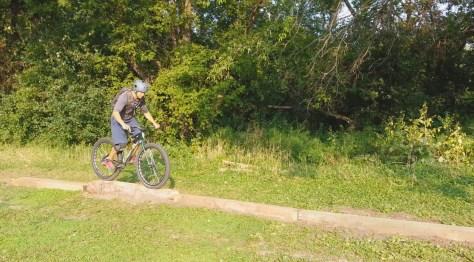 Josh Seifert on the Sechler skills park beam/log skinny