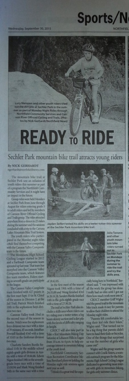 Northfield News article