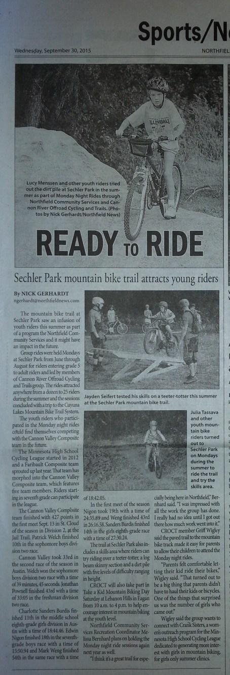 Northfield News article