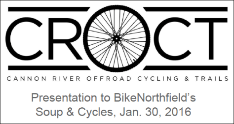 CROCT presentation to Soup and Cycles, Jan 30, 2016