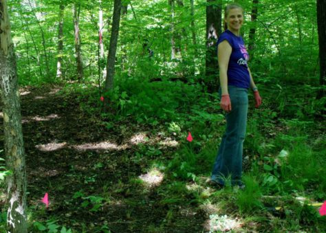 CROCT trail segment at Caron Park 5