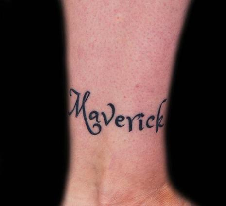 Healed lettering. Outside leg. 2013