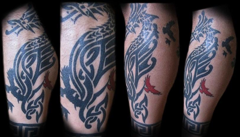 Tribal (Celtic & Nordic influences) Dragon. 2015
