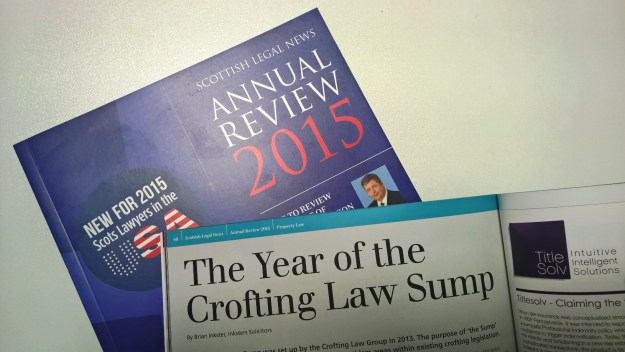 Scottish Legal News Crofting Law Review 2015