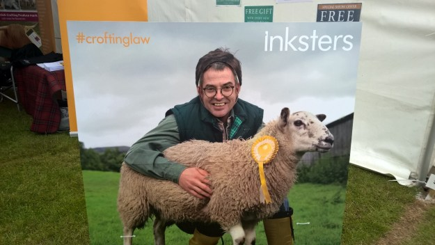 Brian Inkster and Inky the Sheep