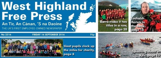 West Highland Free Press - 16 September 2016