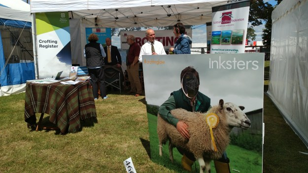 Crofting Law at the Royal Highland Show 2018 (The stand with Inky the sheep)
