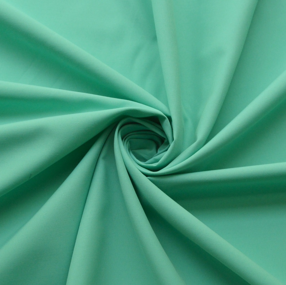50*50 Superior Quality 50% Cotton, 50% Polyester In Lagoon Mint. Craft, Dress Fabric