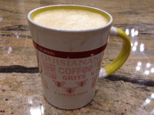 Coffee with blended ghee