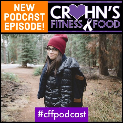 Crohn's Fitness Food podcast cover with Veronica Blancato, Crohn's Queen