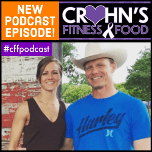 Crohn's Fitness Food podcast cover featuring Jeff Gish, sharing the spouse's perspective of IBD