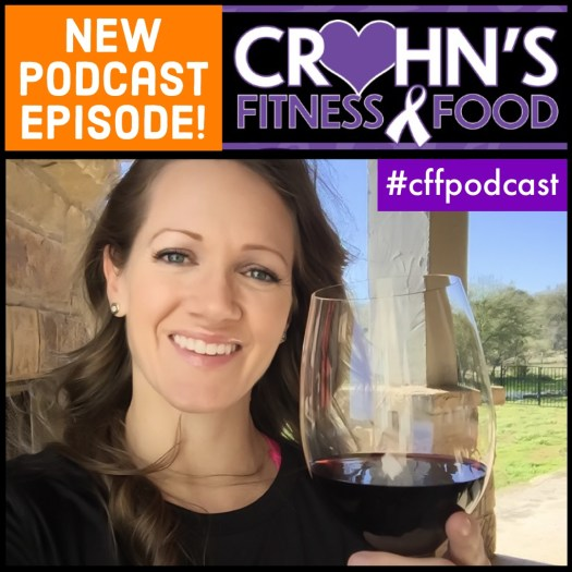 Crohn's Fitness Food podcast cover featuring Stephanie Gish