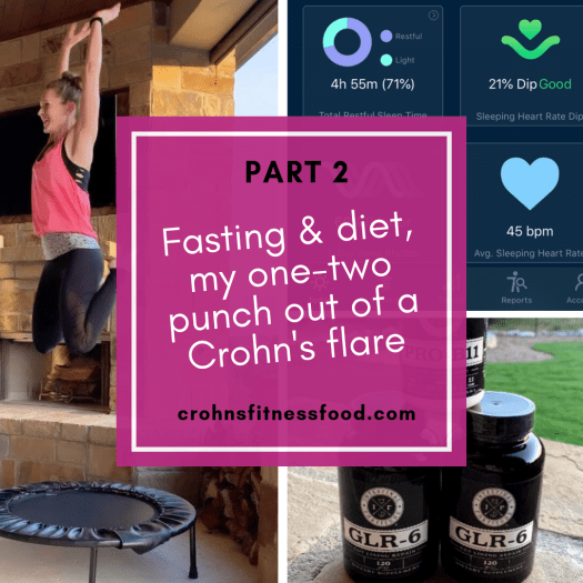 cover image for blog article titled Fasting and Diet, my one-two punch out of a Crohn's flare