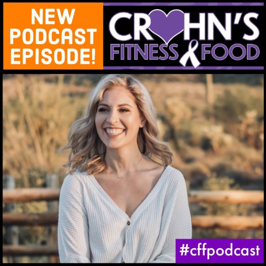 Crohn's Fitness Food podcast cover of Allie Koplan