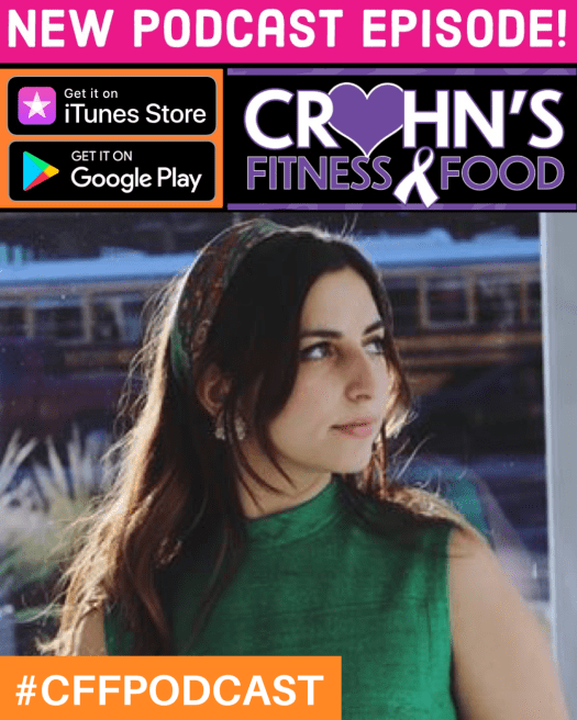Crohn's Fitness Food podcast cover with Stella Rose Carr
