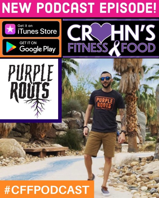 Crohn's Fitness Food podcast cover with Yovani Gonzalez
