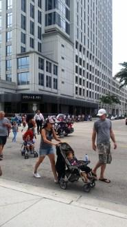 Walkers brought Las Olas traffic to a halt.