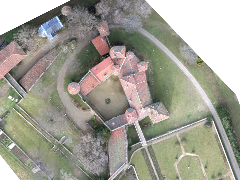 Chateau de Feugerolles - Orthophoto