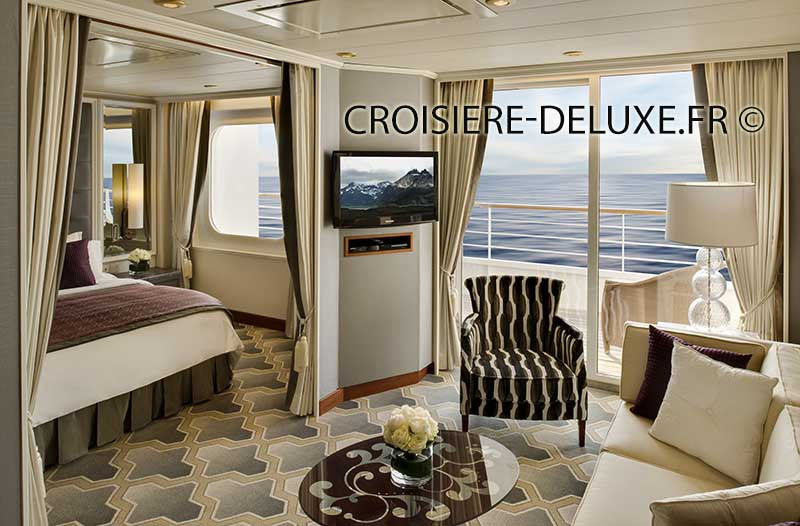 Suite du bateau de luxe Crystal Serenity