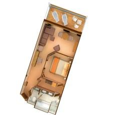 Plan de la Penthouse Suite - Seabourn Odyssey