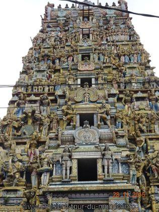 Croisière tour du monde Escale à Colombo au Sri Lanka Le Temple Kailawasanathan Swami Devasthanam Kovil