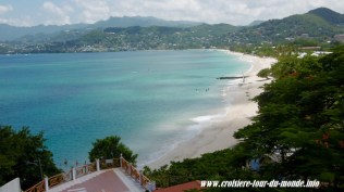 Escale à St Georges île de la Grenade une magnifique baie