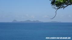 Escale à St Georges île de la Grenade vue sur les îles au nord de la Grenade