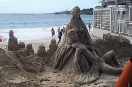 Sculpture sur sable à Rio de Janeiro