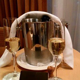 Le champagne de bienvenue