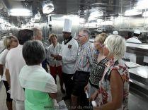En Navigation visite du Queen Victoria, les cuisines