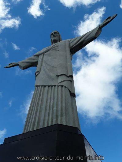 Escale à Rio de Janeiro au Brésil Le Christ Rédempteur sur le Mont Corcovado