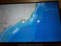 Escale à Rio de Janeiro au Brésil Information sur la télévision de la cabine
