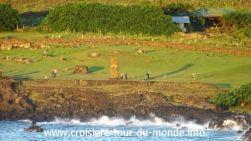 Croisière tour du monde escale à l'île de Pâques