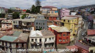 Croisière tour du monde 2019 San Antonio visite de Valparaiso