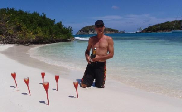Apero sur une plage des Antilles