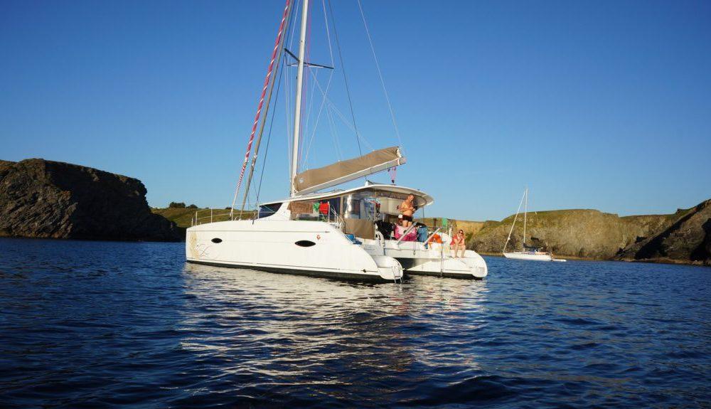 Le catamaran en Mediterranee
