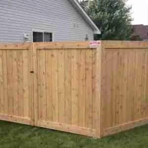 custom ceder wood fences